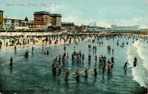 NJ - Atlantic City. Beach Scene