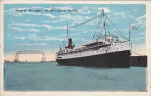 Steamer Octorara, Duluth Superior Harbor, 1910-1920s