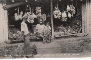 RP: Street Merchant ; Native Boutique , Ceylon , 1930s