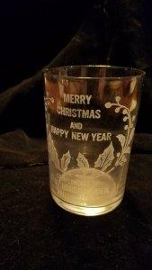 Madison MINNESOTA c1900 SOUVENIR GLASS Nordgaarden Store MERRY CHRISTMAS Dawson