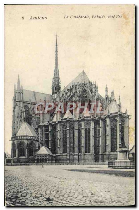 Old Postcard Amiens Cathedrale L & # 39Abside East Coast