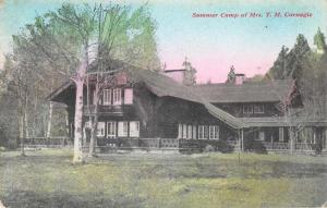 Summer Camp of Mrs. T.M. Carnegie Antique Postcard J60304