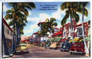 P1007 old cars worth ave distinctive and exclusive palm beach florida linen card
