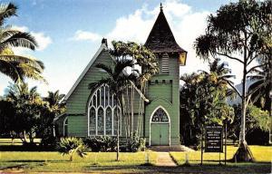 Hanalei Kauai Hawaii~Waioli Hui'ia Church~1986 Postcard