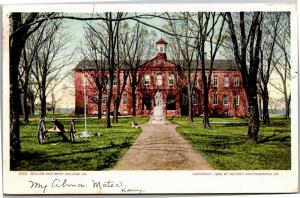 William and Mary College Undivided Back c1906 Vintage Postcard L08