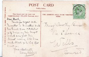 Genealogy Postcard - Family History - Russell - Wells - Somerset  U3301