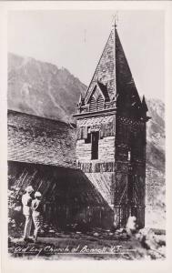 RP, Couple, Old Log Church At Bennett, Yukon, Canada, 1920-1940s