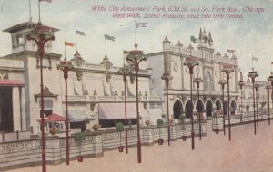 CHICAGO, Illinois, 1914; White City , 63rd St. & S. Park Ave., West Walk, Scenic