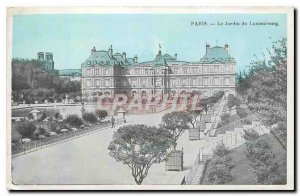 CARTE Postale Old Paris Luxembourg Gardens