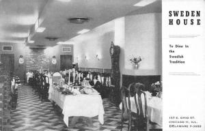Chicago Illinois Sweden House Dining Interior Vintage Postcard K55728