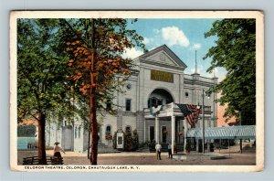 Celoron Theatre, Celoron Chautauqua Lake New York Vintage c1920 Postcard