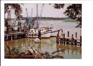 Shrimp Fleet, Thunderbolt, Georgia, Photo Jordon, Fishing Boats