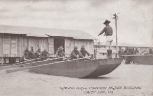 Rowing Drill , Pontoon Bridge Building , Camp Lee, Petersburg, Virginia, 00-10s
