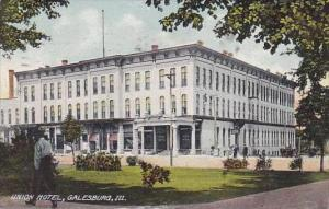 Illinois Galesburg Union Hotel 1909