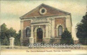 Dutch Reformed Church, Newton Kimberley South Africa Writing on back