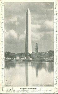 Vtg PMC Postcard 1906 Washington Monument Washington DC Printed by the Blind CPI