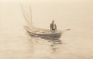 RP: Man on Sailboat, 1900-10s