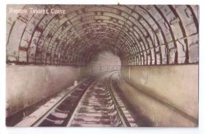 Hudson Tunnel Curve New York NY Vintage ca 1910 Postcard