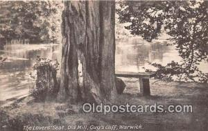 Warwick Postcard Post Card Lovers' Seat, Old Mill, Guy's Cliff