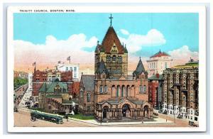 Postcard Trinity Church, Boston, MA B13
