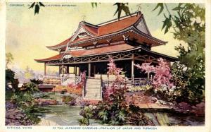 CA - San Diego. 1915 Panama-California Expo. Japanese Gardens & Pavilion