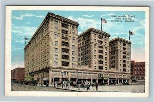 Portland OR, Multnomah Hotel, Vintage Oregon Postcard