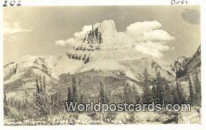 Canada Jasper National Park Roche Miette Real Photo
