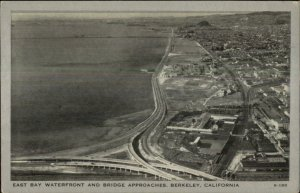 Berkeley CA East Bay Waterfront c1940 Postcard