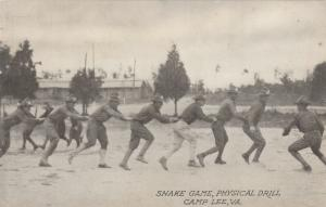 CAMP LEE, Virginia, 1910-20s; Snake Game, Physical Drill