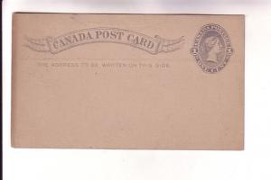 Canada Post Card 1 Cent Victoria, Blue, Stationery, 188_,  James Hutton & Co,...