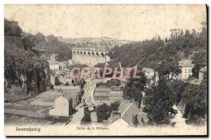 Old Postcard Luxembourg Vallee de la Petrusse