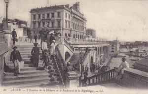 L'Escalier De La Pecherie Et Le Boulevard De La Republique, Alger, Algeria, A...