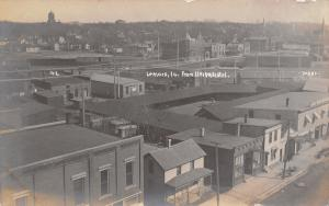 Lemars Iowa~Morehouse Downtown~Birdseye~Courthouse on Hill~Homes RPPC c1910