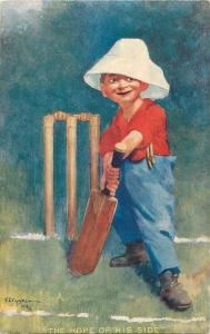 Early E.P. KINSELLA Signed Comic Cricket Sport caricatures postcards set