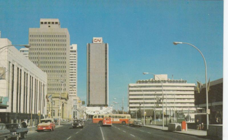 EDMONTON , Alberta, Canada, 40-60s; City Hall & CN Towers
