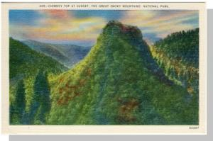 Smoky Mountains Nat'l Park,Postcard,NC/TN,Chimney Top,Nr Mnt