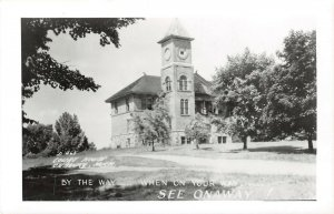 LP47 Onaway  Michigan  Postcard RPPC Court House