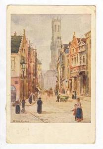 Busy Rue Flamande,Bruges,Belgium 1926