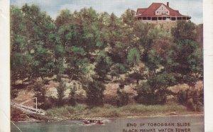 ROCK ISLAND, Illinois, 1900-10s; End Of Toboggan Slide, Black Hawk's Watch Tower