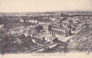 France Carcassonne Vue prise de la Cite