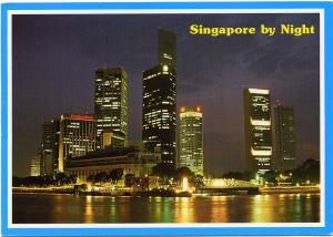 Financial District of Singapore by Night - pm 1994