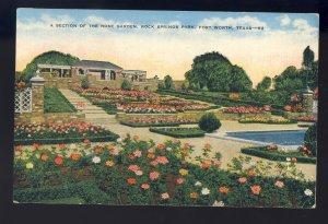 Fort Worth, Texas/TX Postcard, Rose Garden, Rock Springs Park
