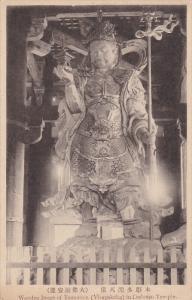 Wooden Image of Tamonten (Virupakcha) in Daibutsu Temple , Japan , 00-10s