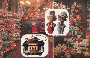 SAN FRANCISCO, California, 1940-60s; 4-views, Santa Claus Christmas wonderland