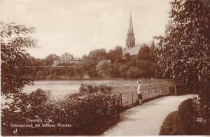 Chemnitz Schlossteich mit Schloss Miramar 1930 w/ Sc.#386