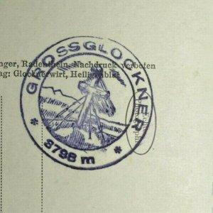 UNUSED VINTAGE POSTCARD - MOUNTAIN GROSSGLOCKNER 3798m AUSTRIA (KK2128)