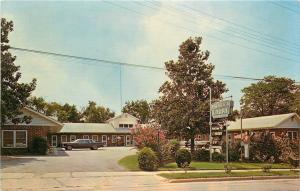 Perry Georgia~New Mecca Court~Bellweather 1964 Postcard