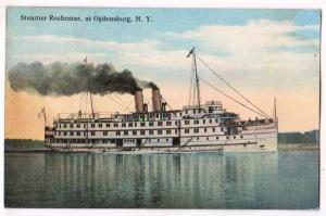 Steamer Rochester, Ogdensburg NY