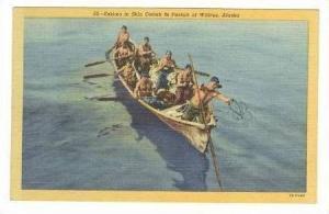 Eskimos In Skin Omiak,Pursuit Of Walrus,Alaska,30-40s