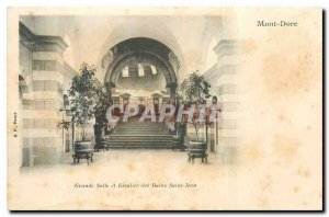Old postcard Mont Dore Great Hall and Staircase des Bains St. John